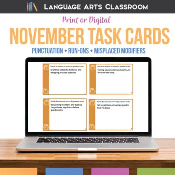 Bell Ringers and Grammar Errors for November