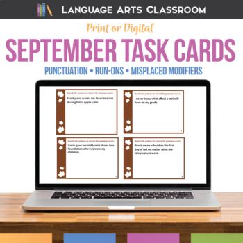 Bell Ringers and Grammar Errors for September