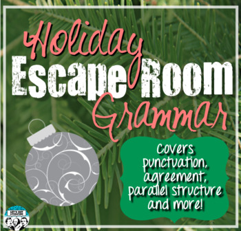 Grammar Escape Room Holiday Theme
