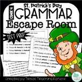 Grammar Escape Room St. Patrick's Day