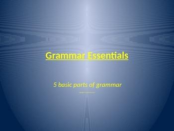 Grammar Essentials: Nouns,Verbs,Adjectives and Adverbs