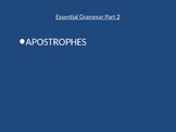 Grammar Essentials part 2-Apostrophes