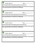 Grammar Exit Card 2