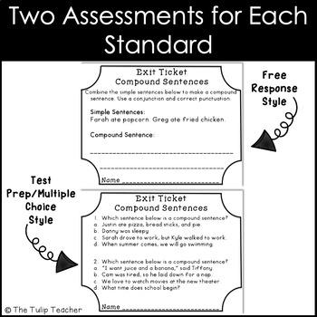 Grammar Exit Tickets or Exit Slips