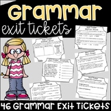Grammar Exit Tickets Assessments {Exit Slips}