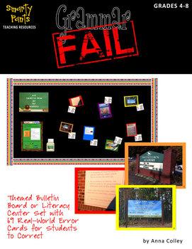 Grammar Fail! Bulletin Board or Literacy Center