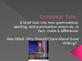 Grammar Fails PowerPoint Lesson