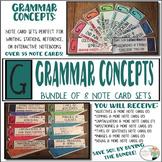 Grammar Concepts Bundle - Punctuation, Sentence Structure, Parts of Speech