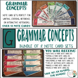 Grammar Concepts Bundle - Punctuation, Sentence Structure,