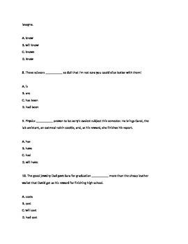Grammar Final - exam