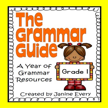 Grammar:  First Grade Printables and Anchor Charts