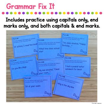 Grammar Fix It - Capitalization & End Marks