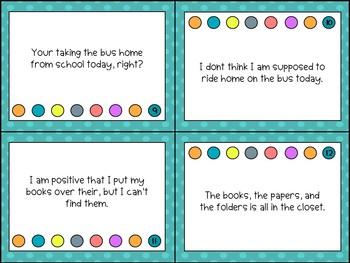 Sentence Editing Task Cards