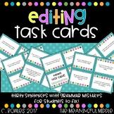 Grammar Fix-It Sentence Task Cards