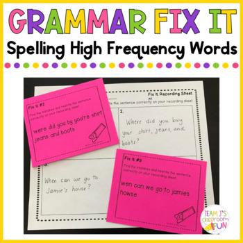 Grammar Fix It - Spelling High Frequency Words