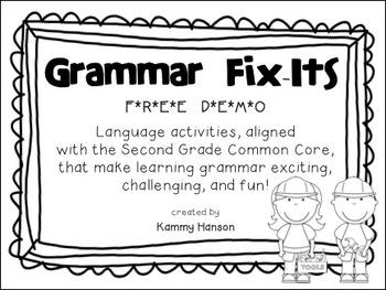 Grammar Fix-Its Demo: Second Grade Common Core Language Activities