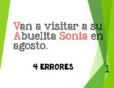 Grammar: Fix the Errors (¡en español!) Review of capitaliz