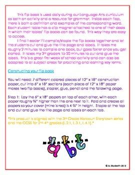 Grammar Flip Book
