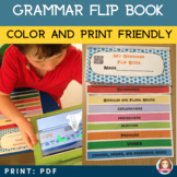 Grammar Flip Book with 9 QR Codes linking to Grammar Songs
