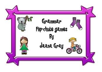 Grammar Flip-Chute Games