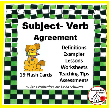 Subject-Verb Agreement | REVIEW  Worksheets |ASSESSMENTS | Flash Cards| Gr 4,5,6