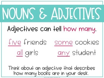 Grammar Fourth and Fifth Grade Activities: Nouns and Adjectives
