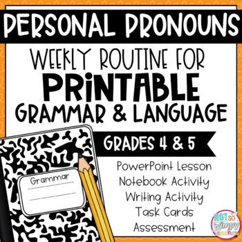Grammar Fourth and Fifth Grade Activities: Personal Pronouns