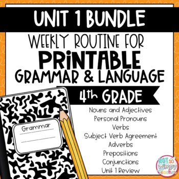 Grammar Fourth and Fifth Grade Activities: Unit 1