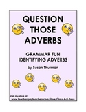 Adverbs: Grammar Practice Worksheets and Posters