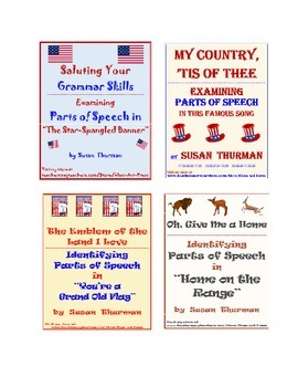 Grammar Practice: Parts of Speech Bundle of Patriotic Songs