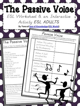 Grammar Fun {The Passive Voice ESL} Grades 6-12 / Adults