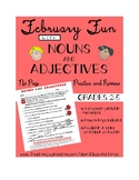 Grammar Practice in February with Nouns and Adjectives (Gr
