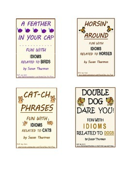 Grammar and Vocabulary Practice: Animal Idioms Worksheets (12 p., Ans. Keys)