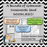 A Bundle of Grammar Fun with Crosswords and Doodles