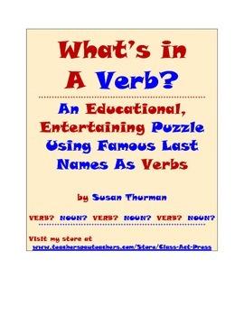 Grammar Practice Fun: Famous Last Names: A Bell-Ringer