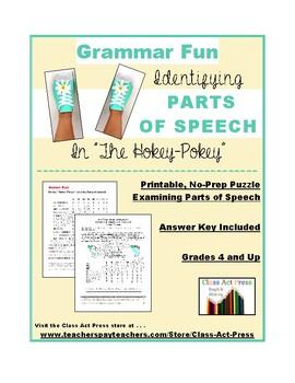 "Grammar Practice: Parts of Speech in ""The Hokey-Pokey"""