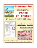 Parts of Speech Worksheets: YOU'RE A GRAND OLD FLAG (2 P., Ans. Key)