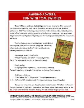 Adverb Fun with Tom Swifties: Grammar Practice