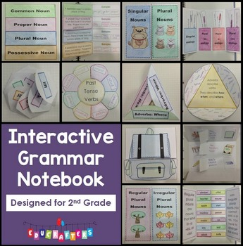 2nd Grade Interactive Grammar BUNDLE!