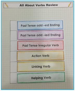 Verb Review Interactive Grammar Practice FREEBIE