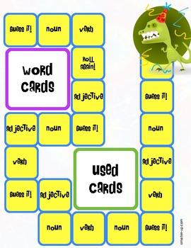 Grammar Game - Adjectives, Nouns, and Verbs