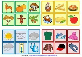 Grammar Game - Autumn/Fall Theme