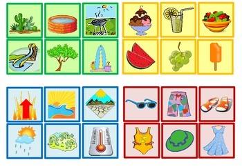 Grammar Game - Summer Theme