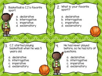 Grammar Game -Types of Sentences