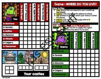 Grammar Game: Where do you live?