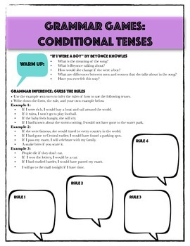 Grammar Games: Active Learning for Conditional Tenses