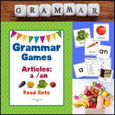 Grammar Games - Articles A, An (Food Sets Edition)