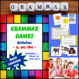 Grammar Games - Articles A, An, The (Includes: What's in Your Zoo?)