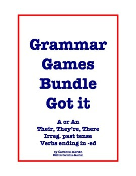 Grammar Games Bundle  Got it