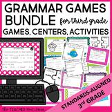 3rd Grade Grammar Games Bundle | 3rd Grade Grammar Centers